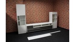 Nová bílošedá obývací stěna lesk