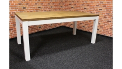 Nový hnědobílý stylový jídelní stůl masiv