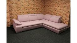 Nová růžová rohová sedací souprava