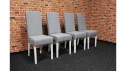 Nová 4x šedá židle bílé nohy