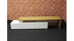 Nový velký hnědobílý TV stolek masiv