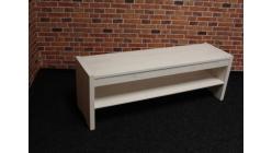 Nová bílá lavice dřevo s policí