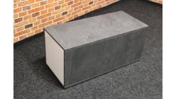 Nový šedobílý konferenční stolek truhla
