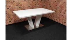 Nový bílý jídelní stůl noha V