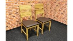 Nová 2x židle masiv dub