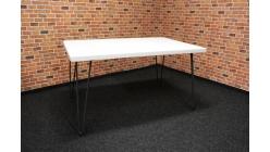 Nový bílošedý jídelní stůl oblé hrany