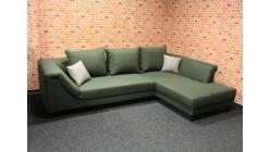 Nová zelená rohová sedačka s polštáři
