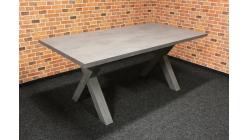 Nový šedý jídelní stůl nohy kříže