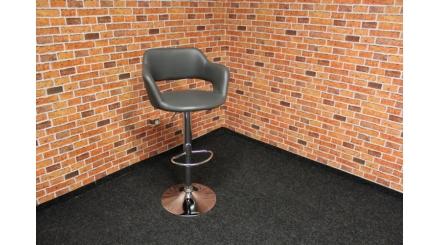 Nová šedá půlkulatá barová židle