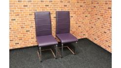 Nová 2x fialová židle koženka
