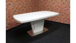 Nový mohutný bílý jídelní stůl mat