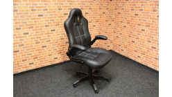 Nové černé prošívané kancelářské křeslo