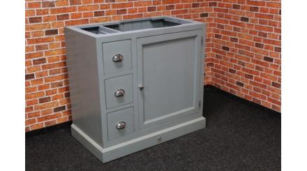 Nová stylová dřevěná skříňka modrá