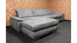 Nová luxusní šedá rohová sedačka MEGAPOL