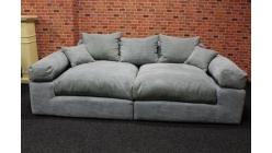 Nové big sofa manšestr s polštáři barva mentol