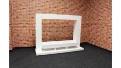 Nový bílý TV stolek-stěna lesk