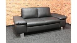 Nový černý gauč komplet kůže