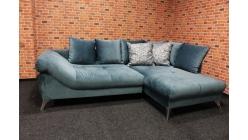 Nová rohová sedačka semiš modrozelená