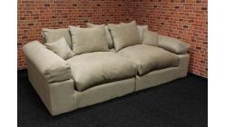Nové krémové big sofa manšestr s polštáři