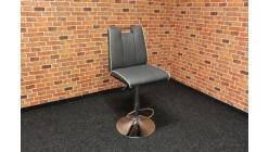 Nová šedobílá barová židle koženka
