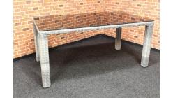 Nový zahradní jídelní stůl světle šedý PADUA