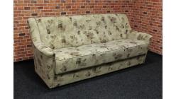 Nový hnědý strakatý rozkládací gauč