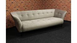Nový stylový krémový semiš gauč dlouhý
