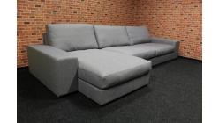 Nová velká šedá rohová sedačka hranatá