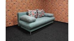 Nový zelený rozkládací gauč s polštáři