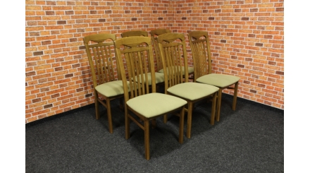 Nová 6x značková židle masiv dub