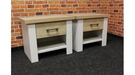 Nový 2x noční stolek patina LUCA