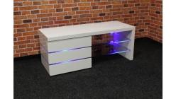 Nový bílý malý TV stolek lesk