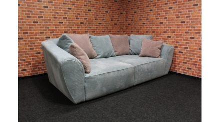 Nové big sofa mentol růžové polštáře