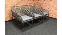Nové 6x lounge zahradní křesílko VALENCIA