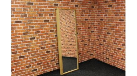 Nové hnědé zrcadlo masiv oblé hrany
