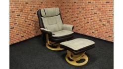 Nové relax křeslo masážní s taburetkou