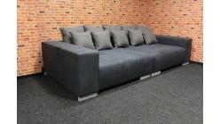 Nové šedé big sofa MAX s polštáři