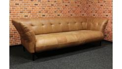Nový stylový hnědý gauč broušená kůže