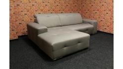 Nová hnědá rohová relax sedačka látka