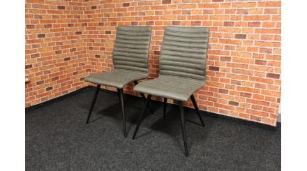 Nová 2x šedobéžová židle vlnky