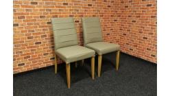 Nová 2x světlá židle kůže