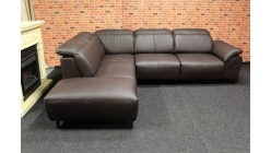 Nová kožená relaxační rohová sedačka ATHINA