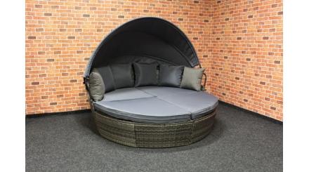 Nový zahradní kulatý gauč polyratan