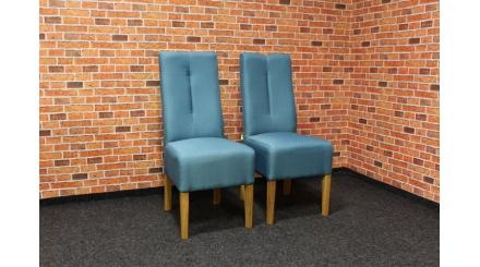 Nová 2x mohutná židle tyrkys
