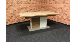 Nový značkový hnědobílý jídelní stůl KYPR