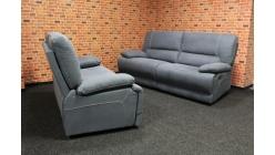 Nová relax polohovací sedačka 2+2 šedá