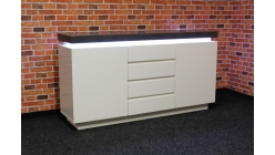 Nová šedobílá skříňka s osvětlením FORNICO