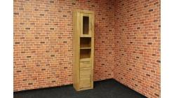Nová vysoká koupelnová skříňka masiv buk OSLO