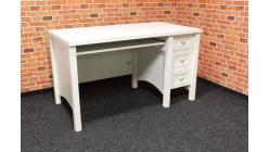 Nový stylový bílý psací stůl DOGTAS