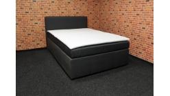 Nová tmavě šedá boxspring postel 140x200 cm